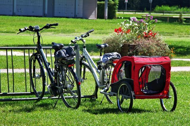 Fahrradanhänger mit Fahrrad