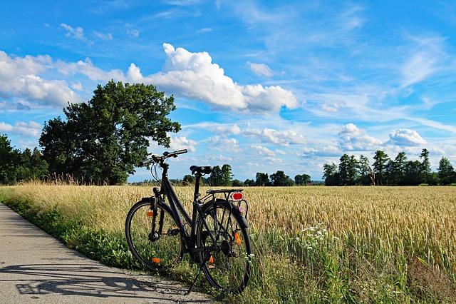 Fahrrad auf Radtour